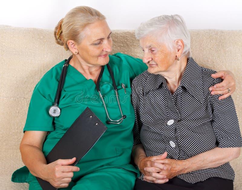 Opiekun i pacjent obraz royalty free