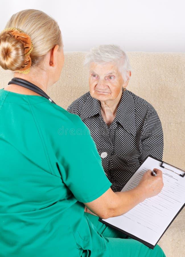 Opiekun i pacjent fotografia royalty free