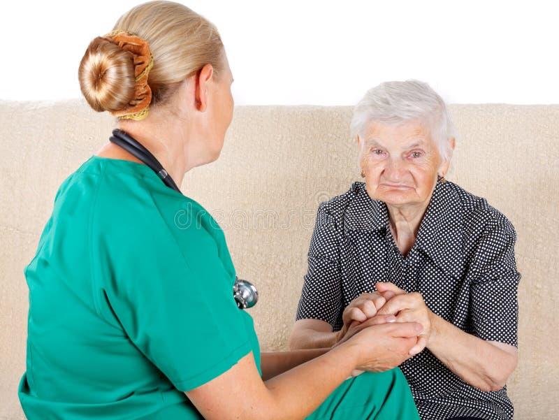 Opiekun i pacjent obrazy stock