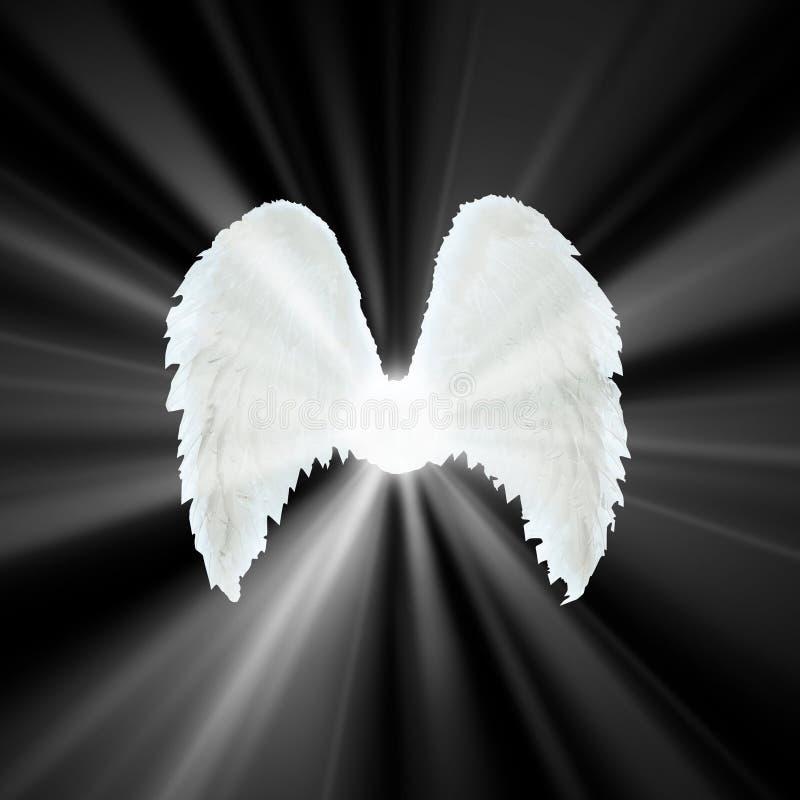 Opiekunu anioła bielu skrzydła zdjęcia stock