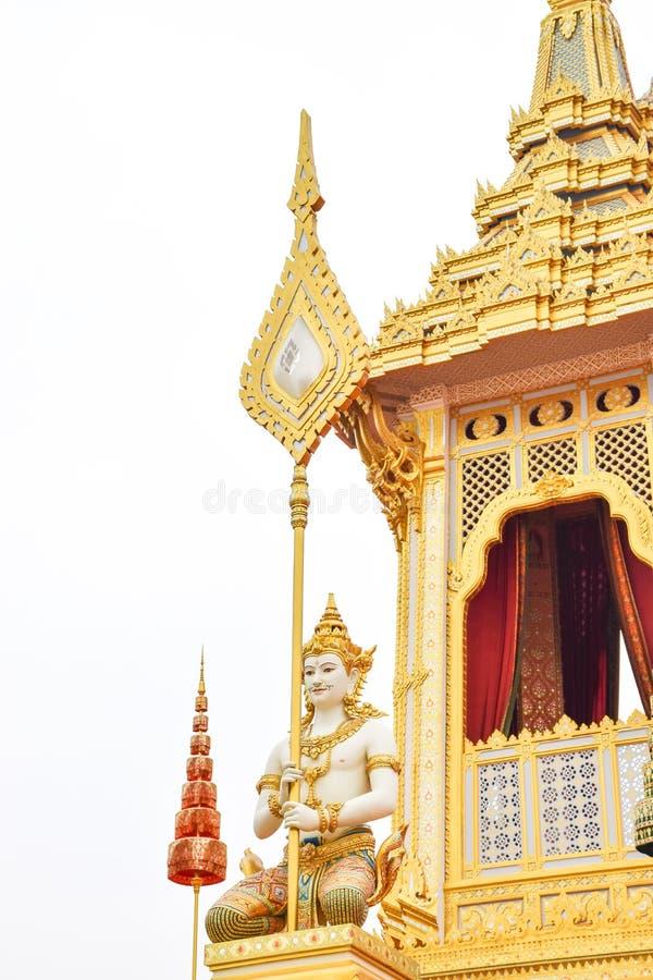 Opiekunu kąt Tajlandia Biały tło 171105 0074 zdjęcie stock