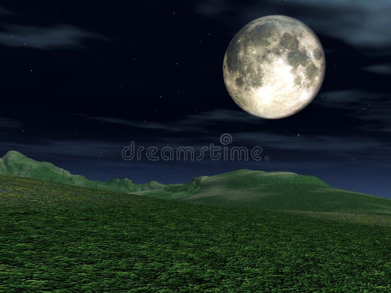 Opinião 2 da lua ilustração stock
