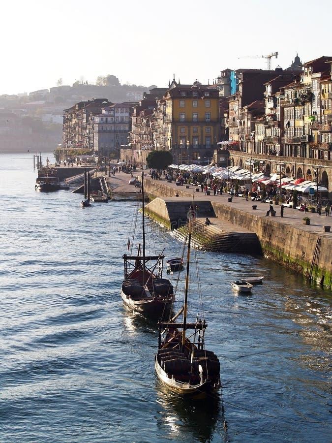 Opinião 2 do beira-rio de Porto fotos de stock royalty free