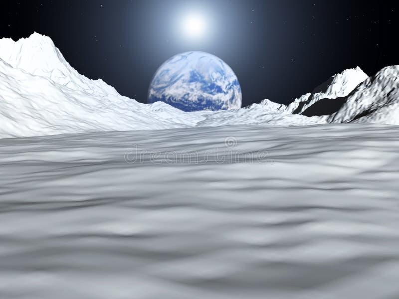 Opinião 28 da lua ilustração stock