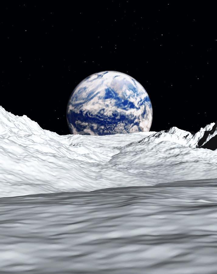 Opinião 3 da lua ilustração do vetor