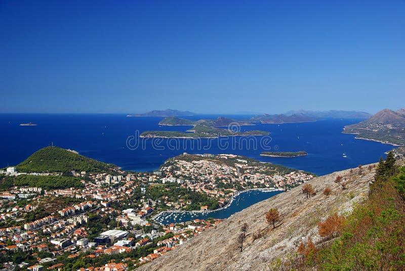 Opinião 36 de Dubrovnik fotografia de stock
