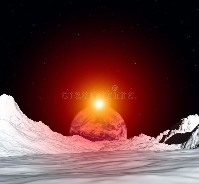 Opinião 5 da lua ilustração stock