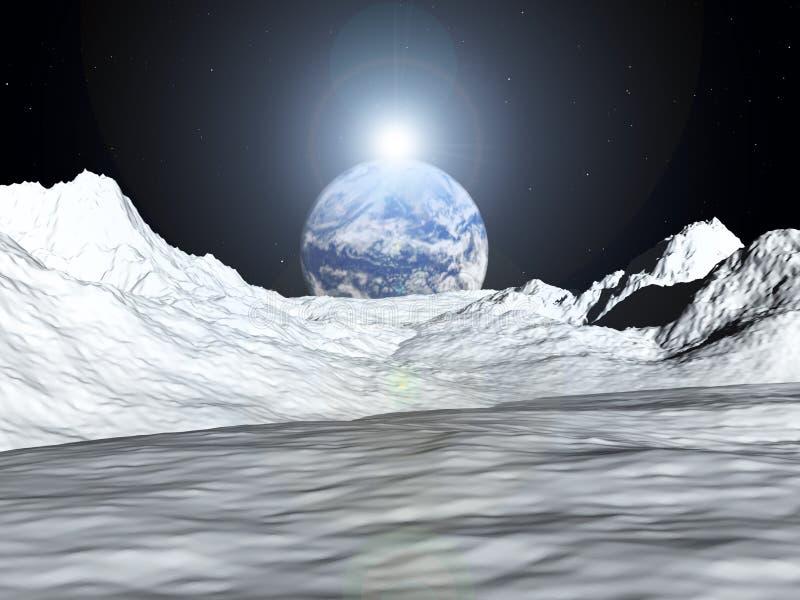 Opinião 52 da lua ilustração do vetor