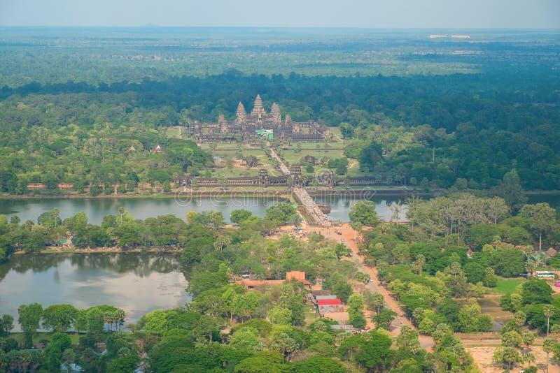 Opinião aérea Angkor Wat Temple fotos de stock royalty free