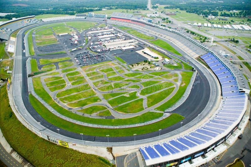 Opinião aérea Carolina Speedway norte em Charlotte, NC fotografia de stock