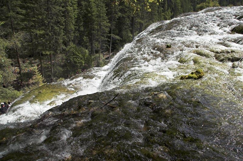 Opinião aérea da cachoeira do banco de areia da pérola foto de stock royalty free