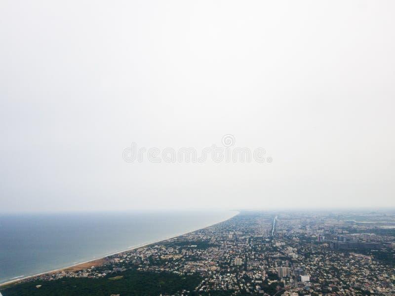 Opinião aérea da cidade de Chennai imagem de stock