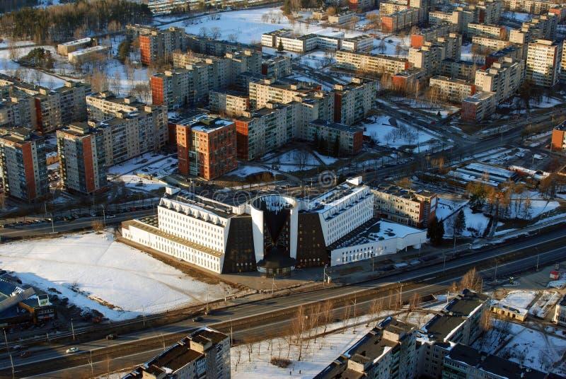 Opinião aérea da cidade de Vilnius fotos de stock