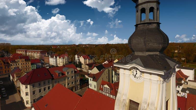 Opinião aérea da cidade velha do mercado de Meueslwitz imagens de stock royalty free