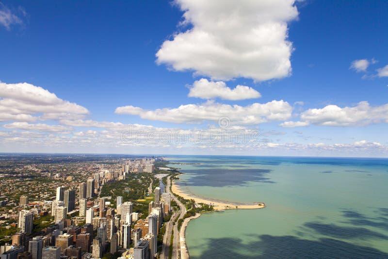 Movimentação da costa do lago chicago foto de stock royalty free