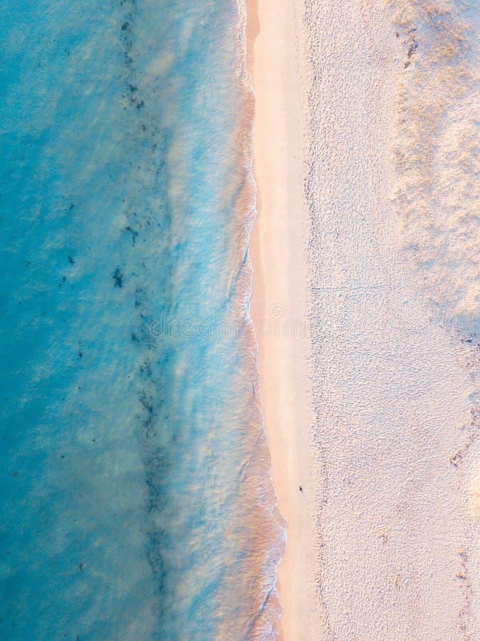 Opinião aérea da praia fotografia de stock royalty free