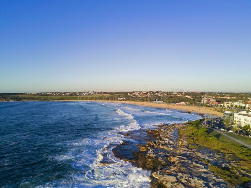 Opinião aérea da praia de Maroubra imagem de stock