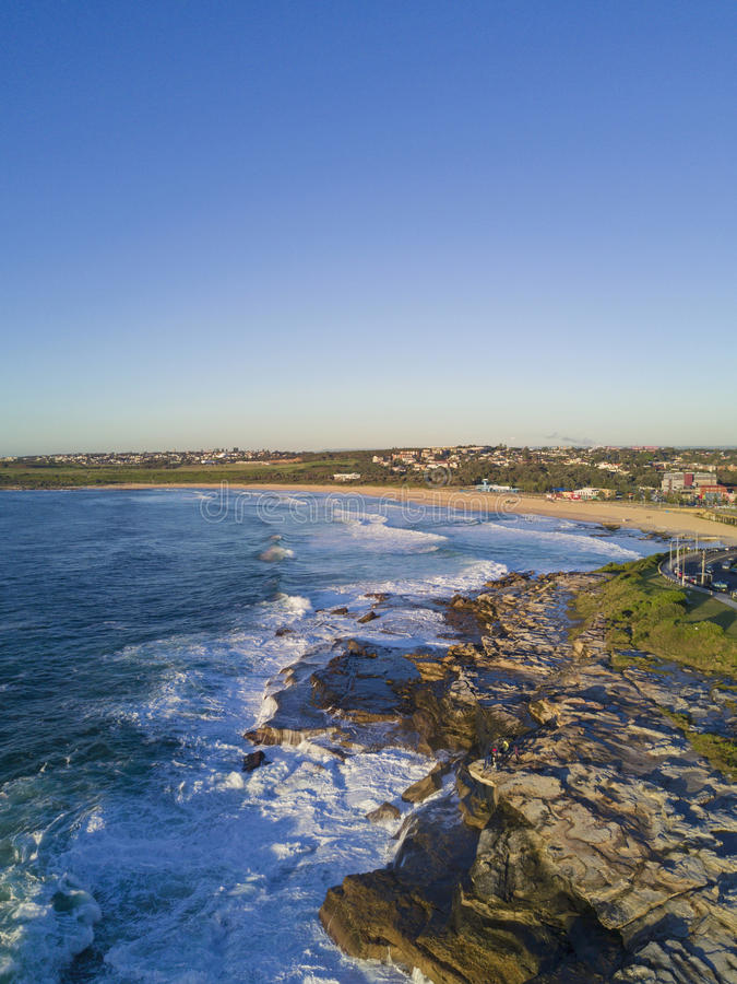 Opinião aérea da praia de Maroubra fotos de stock royalty free