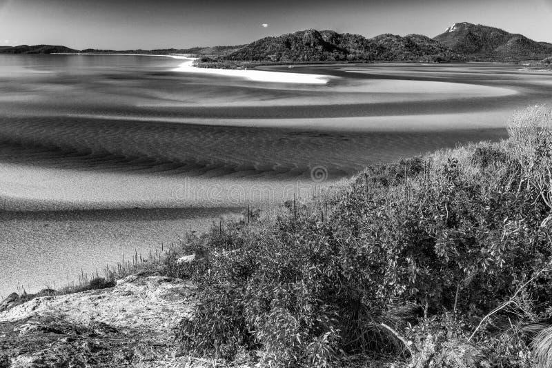 Opinião aérea da praia de Whitehaven, ilhas do domingo de Pentecostes imagem de stock