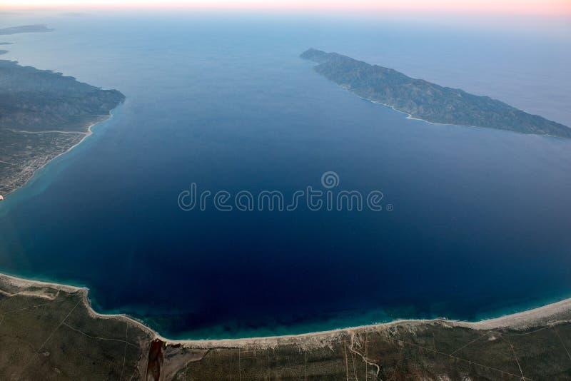 Opinião aérea de Baja California Sur México fotografia de stock royalty free