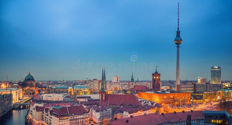Opinião aérea de Berlim, Alemanha imagens de stock
