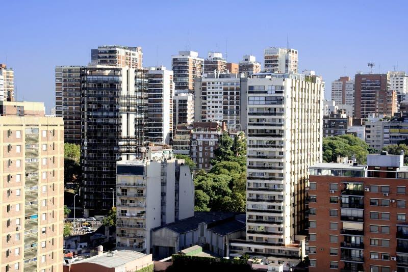 Opinião aérea de Buenos Aires fotos de stock royalty free