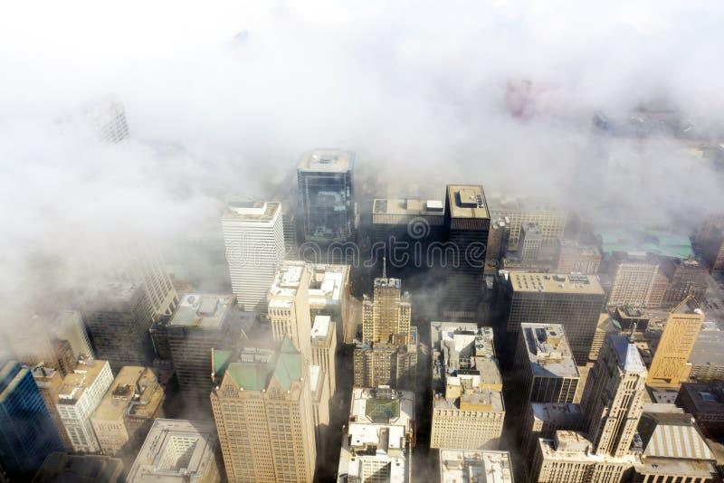Opinião aérea de Chicago imagem de stock