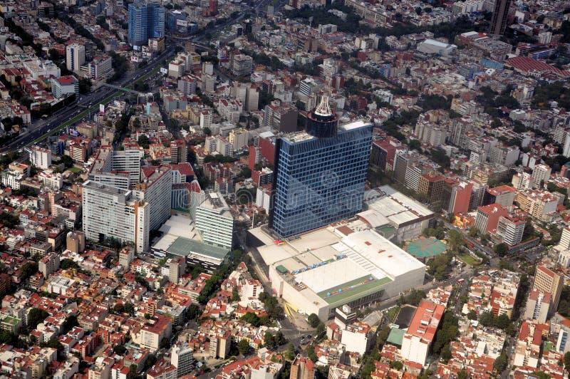 Opinião aérea de Cidade do México imagens de stock royalty free