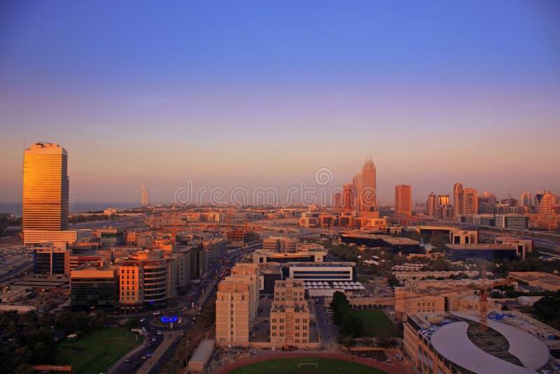 Opinião aérea de Dubai foto de stock royalty free