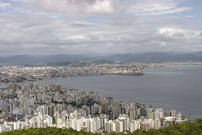 Opinião aérea de Florianopolis - Brasil fotos de stock royalty free