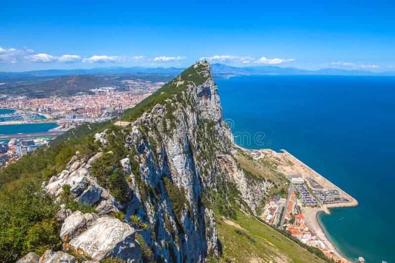 Opinião aérea de Gibraltar fotografia de stock