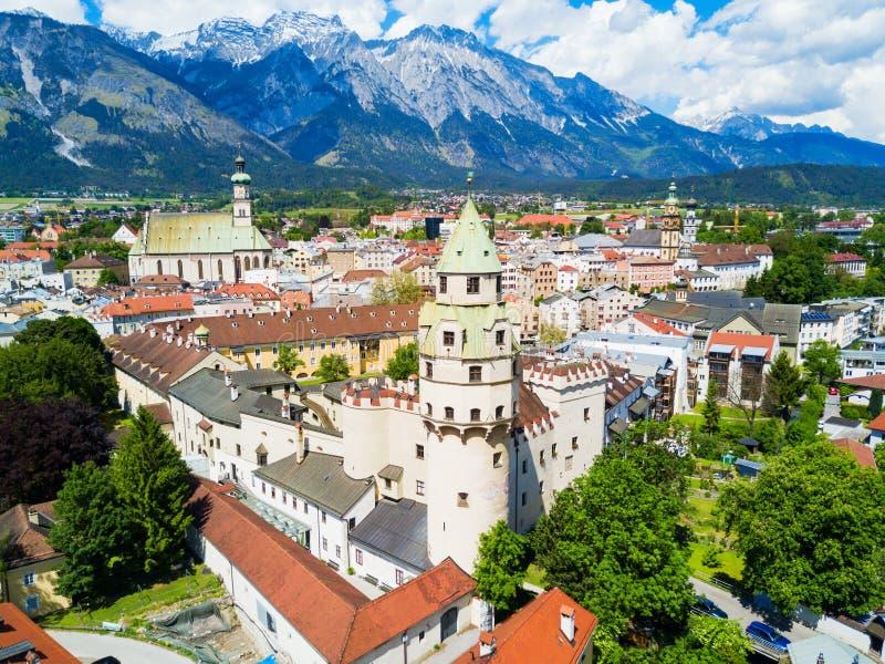 Opinião aérea de Hall Tirol fotos de stock royalty free