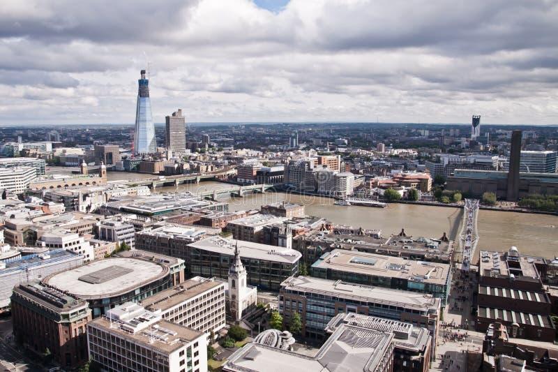 Opinião aérea de Londres imagens de stock royalty free
