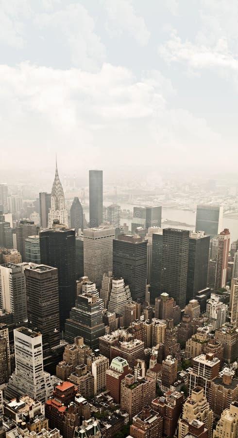 Opinião aérea de Manhattan imagem de stock royalty free