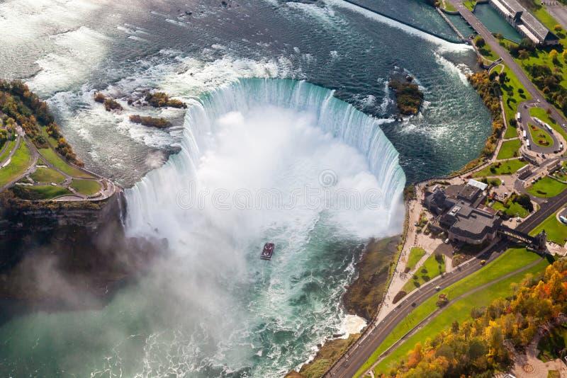 Opinião aérea de Niagara Falls fotografia de stock royalty free