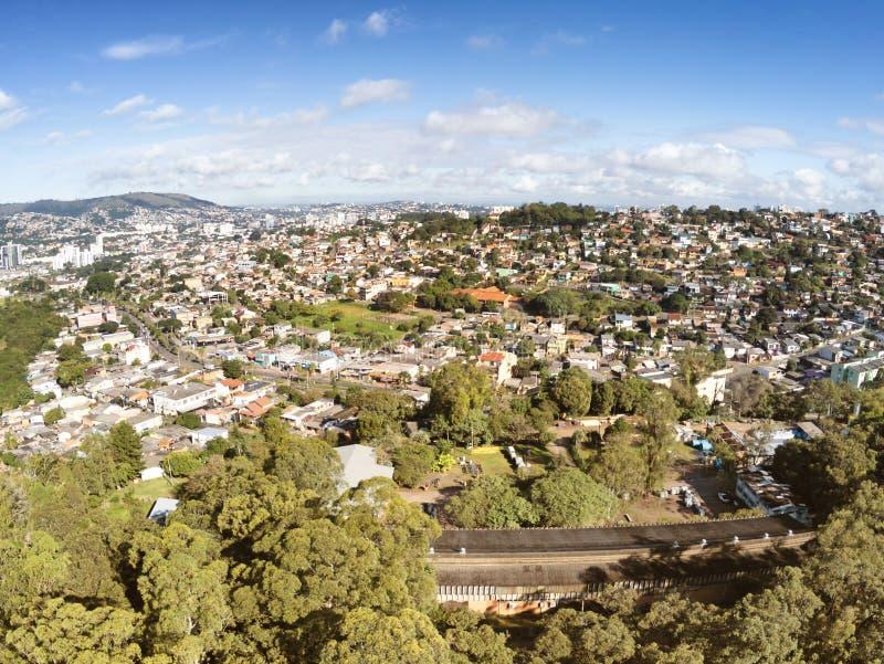 Opinião aérea de Porto Alegre de Jardim Carvalho fotos de stock royalty free