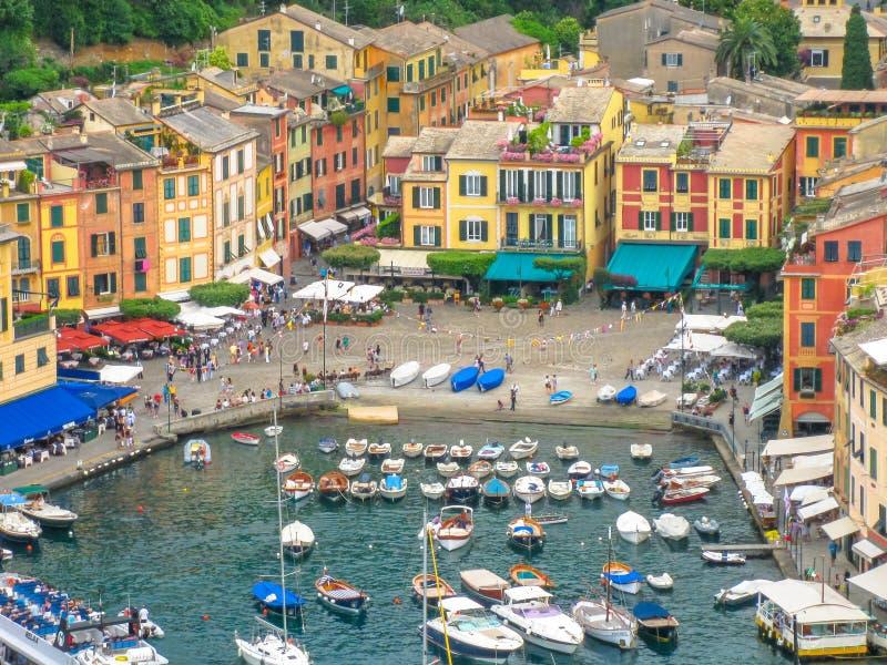 Opinião aérea de Portofino imagem de stock