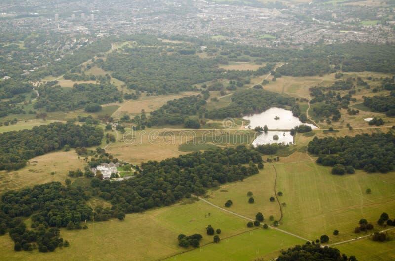 Opinião aérea de Richmond Park imagem de stock royalty free