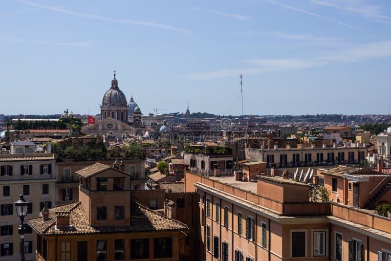 Opinião aérea de Roma foto de stock