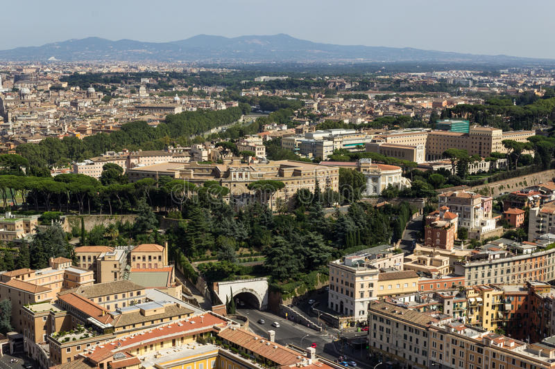 Opinião aérea de Roma foto de stock royalty free