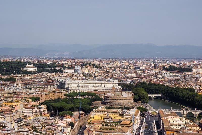 Opinião aérea 001 de Roma imagem de stock royalty free