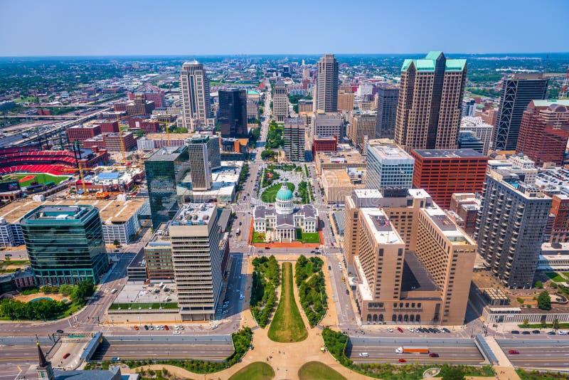 Opinião aérea de St Louis, Missouri, EUA imagens de stock