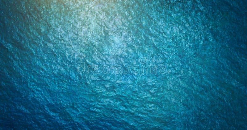 Opinião aérea de superfície do mar imagem de stock