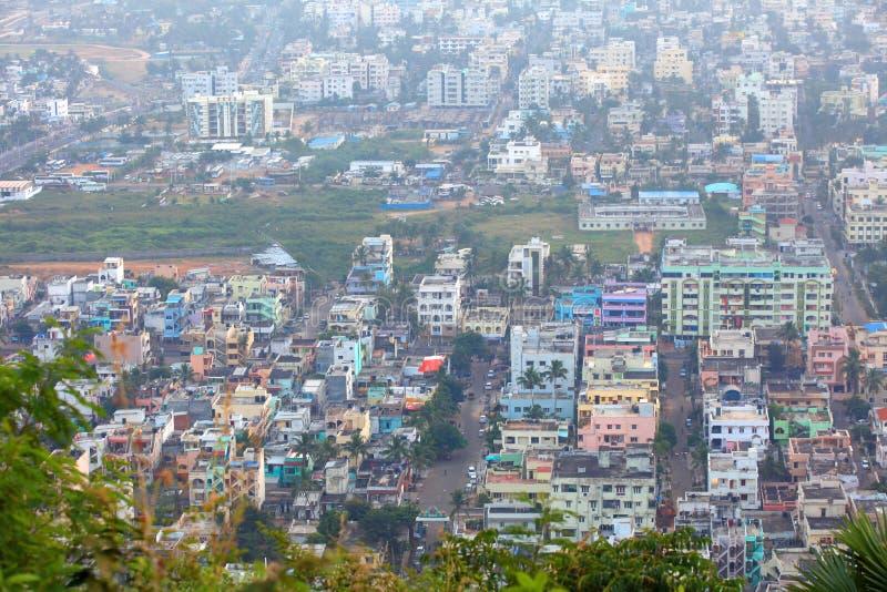 Opinião aérea de Visakhapatnam fotos de stock royalty free