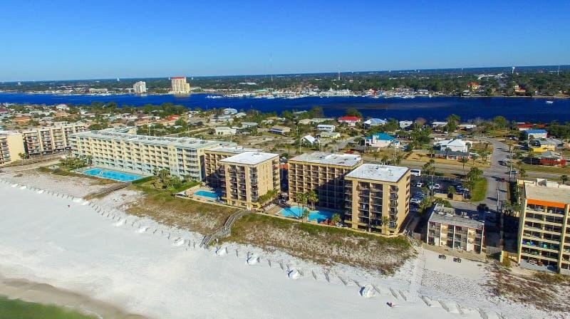 Opinião aérea de Walton Beach do forte, FL imagens de stock royalty free