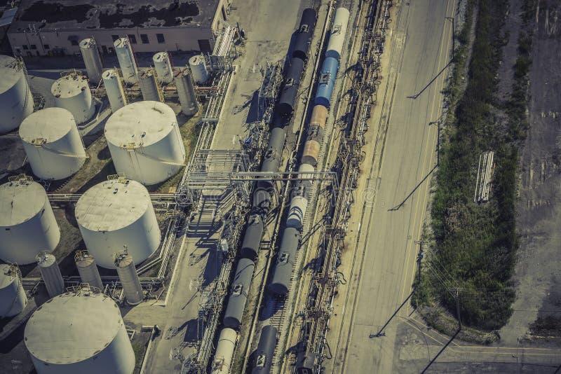 Opinião aérea de zona industrial foto de stock