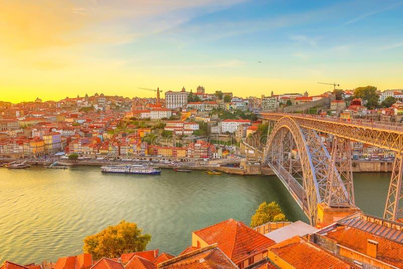 Opinião aérea do Porto fotos de stock