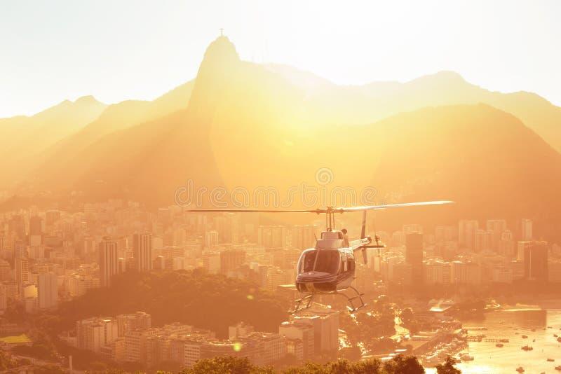 Opinião aérea do Rio fotografia de stock royalty free