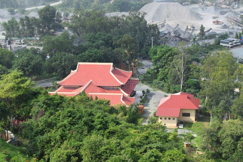 Opinião aérea do templo de Chau Thoi em Vietname imagens de stock