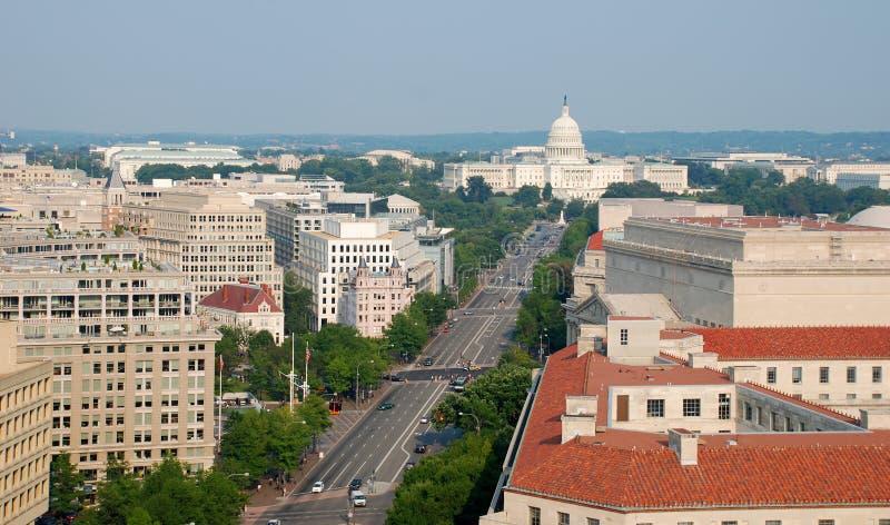 Opinião aérea do Washington DC imagens de stock royalty free